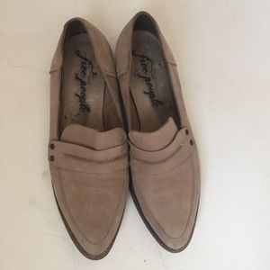 Free People Taupe Bexley Loafers Size 41